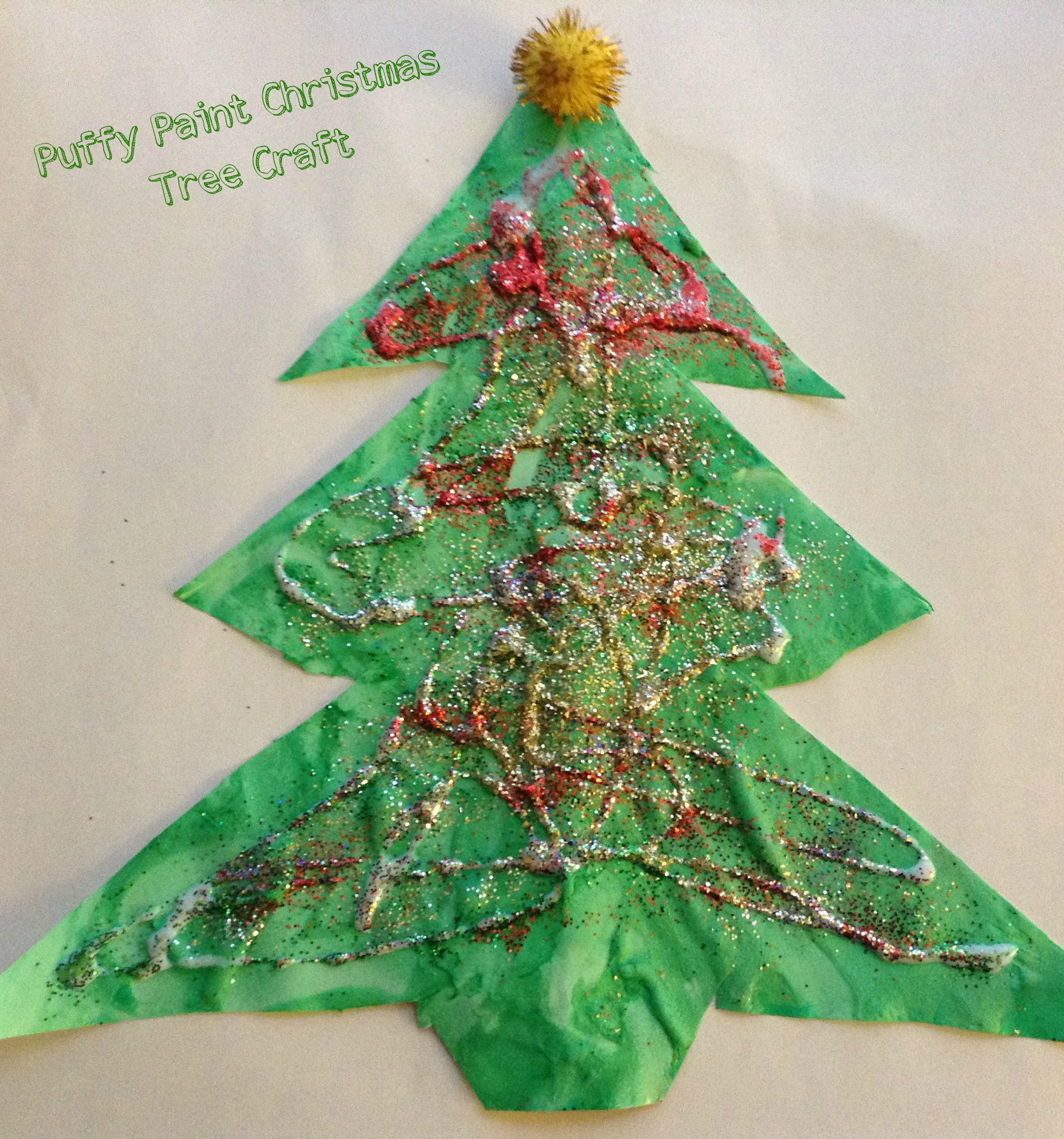 Puffy Paint Christmas Tree Craft