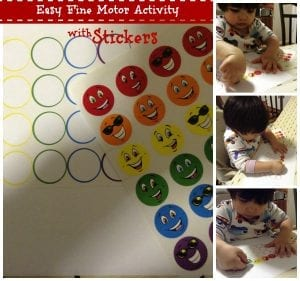 Easy Fine Motor Activity- Stickers