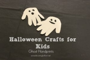 Halloween Crafts for Kids Ghosts Hand-prints