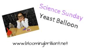 Science Sunday- Yeast Balloon
