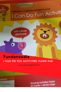 Toddlers and Preschoolers will love this Fundanoodle I Can Do FUn Activities Floor Pad, while learning and developing and improving their motor skills.