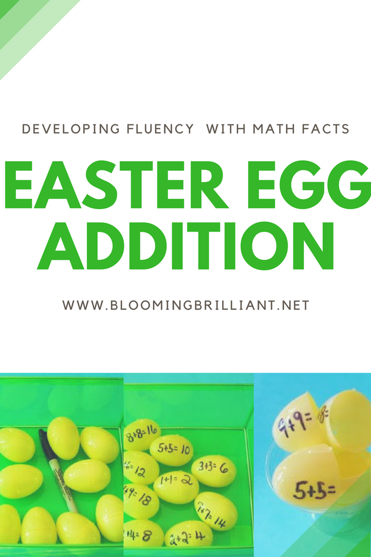 Teaching Math Fluency with Easter Egg Addition