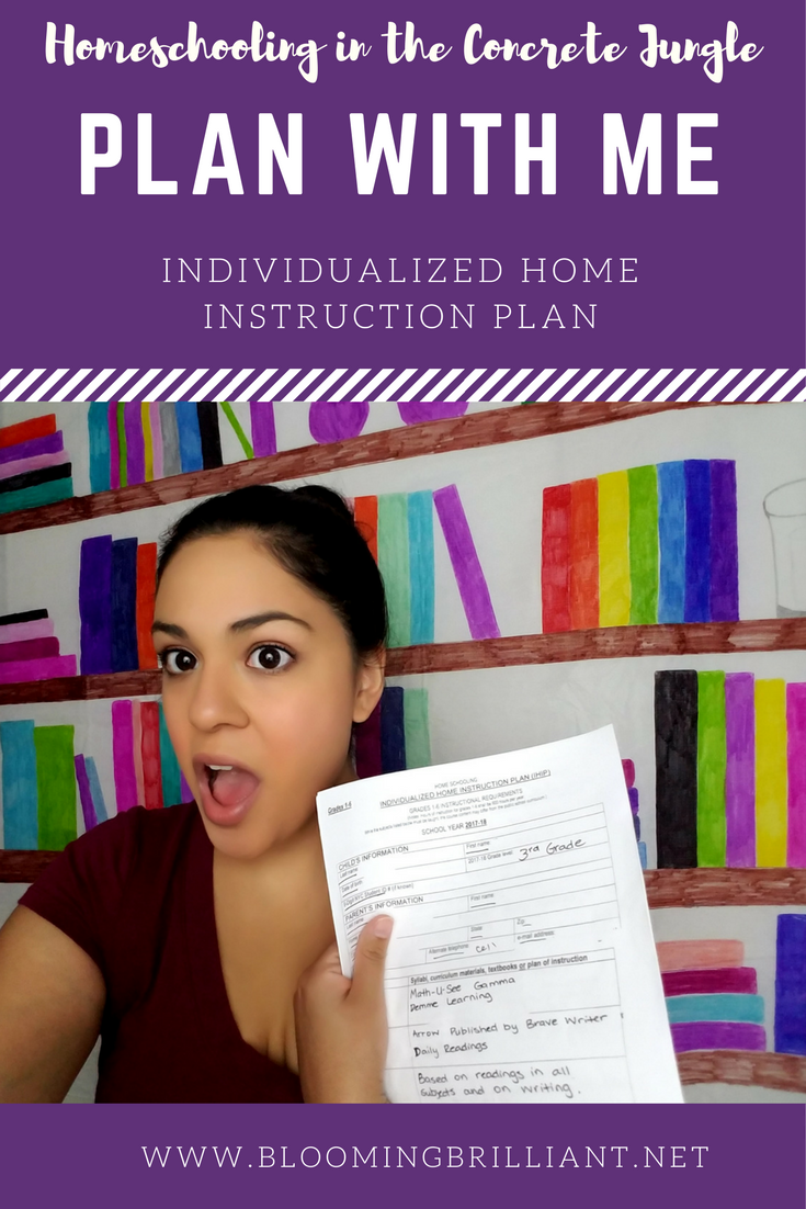Plan with me: Individualized Home Instruction Plan. Go through how I fill out our IHIP form for Home School.