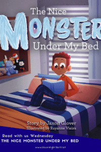 The Nice Monster Under My Bed is a great story that children who are afraid to sleep on their own will easily relate too. KidLit Pick of the week.