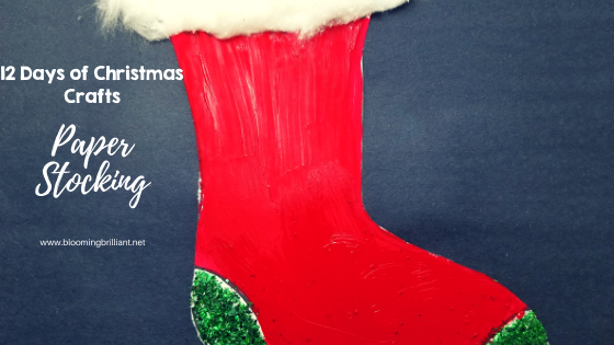 Crafts for Kids- Christmas Crafts- Paper stocking craft. Looking for a fun craft this winter season for your kids? This paper stocking craft is adorable and fun and it super easy.