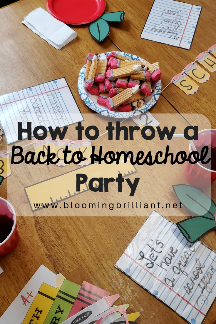 How to throw a Back to Homeschool Party