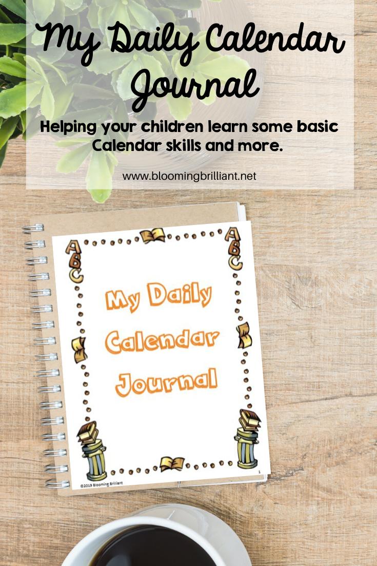 Daily Calendar Journal helping kids develop basic everyday skills.
